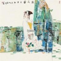 人物 立轴 设色纸本 - 刘春明 - 中国字画 - 大唐珍玩2011首届艺术品拍卖会 -收藏网