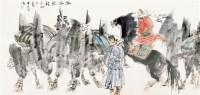 瀚海驼铃 框 设色纸本 - 114744 - 中国书画(二) - 2011秋季艺术品拍卖会 -收藏网