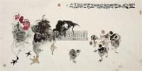 合家欢乐 镜片 设色纸本 - 骆孝敏 - 中国书画 - 2011年四季书画拍卖会 -收藏网