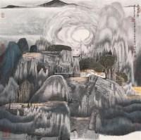 山水 立轴 设色纸本 - 薛 亮 - 中国书画专场 - 2007年精品预展 -中国收藏网