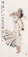 青春舞步 镜心 设色纸本 - 陈振国 - 中国书画 - 2006秋季拍卖会 -收藏网