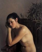 沉思的人体 布面  油画 - 靳尚谊 - 现代中国艺术 - 2006秋季拍卖会 -中国收藏网