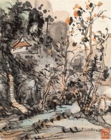 山水 镜片 设色纸本 - 116142 - 中国书画(二) - 2011年金秋精品书画拍卖会 -收藏网