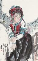 小金花 立轴 设色纸本 - 刘文西 - 中国书画一 - 2011春季艺术品拍卖会 -收藏网