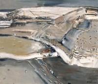白羽平 灰色风景 布面油画 - 153839 - 中国油画 - 2006秋季艺术品拍卖会 -收藏网