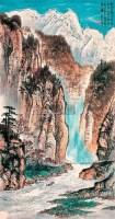 山水 立轴 设色纸本 - 118211 - 中国书画艺术品(二)专场 - 2011年春季艺术品拍卖会 -收藏网