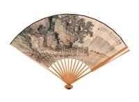 山水 成扇 纸本设色 - 134104 - 中国书画 - 2005年春季拍卖会 -收藏网