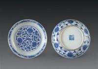 青花缠枝莲盘 (一对) -  - 中国古董珍玩 - 2006秋季艺术品拍卖会 -收藏网