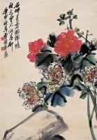芙蓉花开 立轴 设色纸本 - 曹用平 - 中国书画 - 2008夏季拍卖会 -收藏网