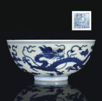 A BLUE AND WHITE DRAGON BOWL,QIANLONG MARK AND OF THE PERIOD (1736-1795) -  - 中国进出口瓷器 - 2009秋季拍卖会(二) -收藏网