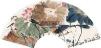 荷塘清趣 扇面 设色纸本 - 117994 - 书画专场 - 2011年夏季艺术品拍卖会 -中国收藏网