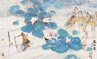 春消息 镜心 设色纸本 - 鸥洋 - 中国书画专场 - 2006年秋季拍卖会 -收藏网