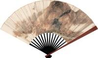 秋山红树 成扇 设色纸本 - 陶焘 - 中国书画 - 2006秋季拍卖会 -收藏网