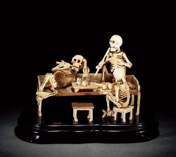 古代木制工艺品摆件