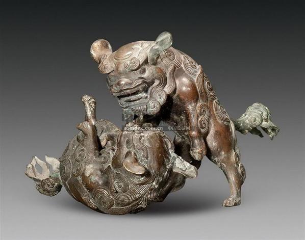 铜雕戏狮摆件--古董珍玩-2010春季大型艺术品拍卖会