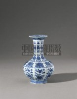 PERIOD OF QIANLONG A FINE AND RARE BLUE AND WHITE LOBED VASE -  - Qing Porcelain and Works of Art from a Private Col - 2007年秋季拍卖会 -收藏网