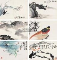 花鸟册页 册页 (十二开选六) 设色纸本 -  - 中国书画私人收藏专场 - 2009春季大型艺术品拍卖会 -收藏网