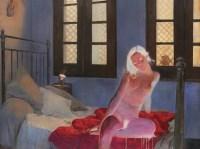 空•房间 - 何净 - 中国油画 - 2008春季中国油画拍卖会 -收藏网