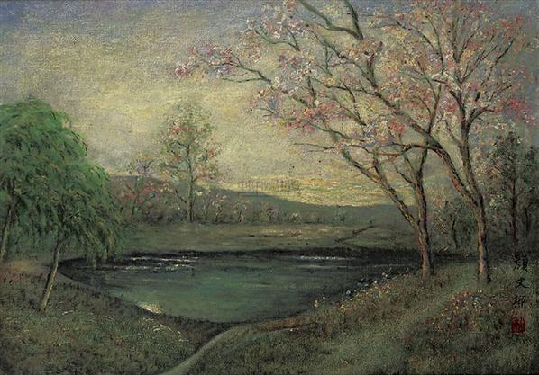 颜文梁 风景(油画)--中国字画专场-2009年春季大型品