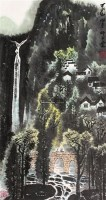 观瀑图 立轴 纸本 - 139817 - 文物商店友情提供 - 庆二周年秋季拍卖会 -收藏网