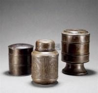 锡茶叶罐 (一组三件) -  - 瓷玉工艺品专场 - 2011夏季艺术品拍卖会 -收藏网