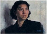 外语教师 布面 - 靳尚谊 - 现当代中国艺术日场II - 2007秋季拍卖会 -中国收藏网