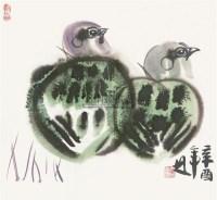鸟 纸片 设色纸本 - 128065 - 中国书画(三)—载玉怀珠 - 2011春季艺术品拍卖会 -收藏网