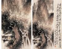 傅抱石(1904-1965)深山听瀑图 - 116002 - 中国书画(二) - 2007秋季艺术品拍卖会 -收藏网