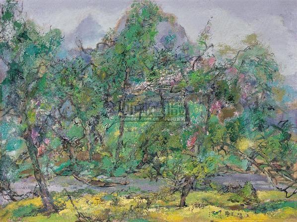 洪凌 闲春 布面油画 - 133228 - 中国油画 - 2006秋季艺术品拍卖会 -收藏网
