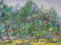 洪凌 闲春 布面油画 - 洪凌 - 中国油画 - 2006秋季艺术品拍卖会 -收藏网