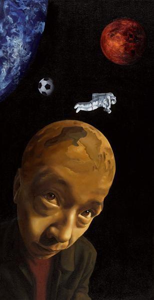 赵坤 2002年作 星球系列 布面 油画 - 139609 - 中国当代油画 - 2006首届中国国际艺术品投资与收藏博览会暨专场拍卖会 -收藏网