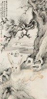 玉兔 立轴 设色纸本 - 4892 - 四海撷珍·文物商店旧藏中国书画专场 - 首届艺术品拍卖会 -收藏网