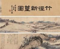 梅岭竹林图 手卷 设色纸本 -  - 中国古代书画 - 2006秋季拍卖会 -收藏网
