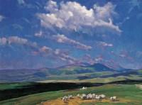 白钢 天边的云 布面 油画 - 白钢 - 中国油画 - 2006年秋季拍卖会 -收藏网