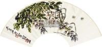 紫滕蜜蜂扇面 扇面 设色纸本 - 齐白石 - 中国书画 - 2011年春季拍卖会(329期) -收藏网