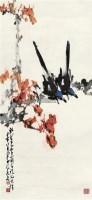 红叶双雀 镜片 设色纸本 - 135045 - 岭南名家书画 - 2011秋季艺术品拍卖会 -收藏网