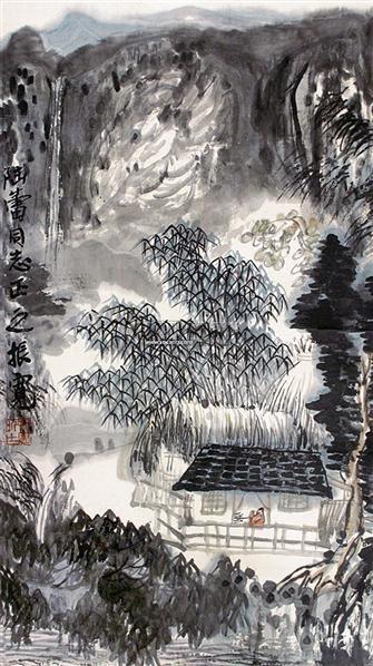 山水 镜片 - 114802 - 中国书画 - 2011年首屇艺术品拍卖会 -中国收藏网