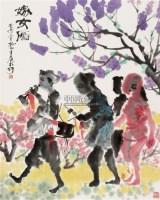 嫁女图 立轴 设色纸本 - 130188 - 中国书画 - 2007年秋季大型艺术品拍卖会 -中国收藏网