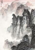 山水 立轴 设色纸本 - 王旭东 - 中国书画(四) - 2011春季艺术品拍卖会 -中国收藏网