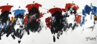 草原节日 镜心 设色纸本 - 117590 - 当代书画名家精品专场 - 2008春季拍卖会 -收藏网