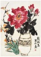 岁朝图 镜心 设色纸本 - 138349 - 古代 近现代书画 - 2007年首届中国艺术品拍卖会 -中国收藏网