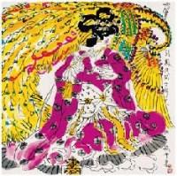 吹箫引凤 镜心 设色纸本 - 叶毓中 - 中国书画 - 2007年夏季拍卖会 -收藏网