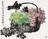 葡萄 横披 设色纸本 - 苏葆桢 - 中国书画专场(二) - 2011年迎春艺术品拍卖会 -收藏网