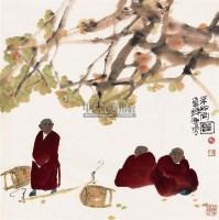 三个和尚图 镜片 纸本 - 121844 - 保真作品专题 - 2011春季书画拍卖会 -收藏网
