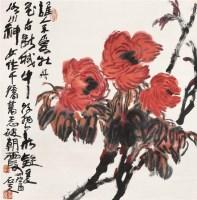 郭石夫 花卉 立轴 设色纸本 - 郭石夫 - 中国书画 - 2006首届艺术品拍卖会 -收藏网