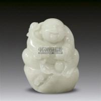 白玉雕如意童子摆件 -  - 瓷器 玉器 工艺品 - 2011春季艺术品拍卖会 -收藏网