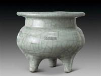 哥釉鬲式炉 -  - 古董珍玩 - 2012迎春艺术品拍卖会 -收藏网