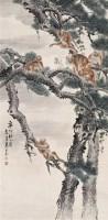 朱文侯 群猴图 立轴 设色纸本 - 朱文侯 - 中国书画 - 2006年秋季拍卖会 -中国收藏网