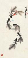 六鱼图 镜片 纸本 - 张鹤云 - 鲁特刘瑰玲艺术藏品专场 - 2011年春季艺术品拍卖会 -收藏网