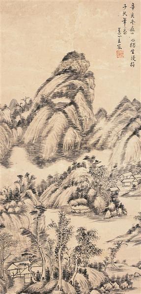 山水 立轴 水墨纸本 - 5289 - 中国书画(一) - 2006年秋季拍卖会 -中国收藏网
